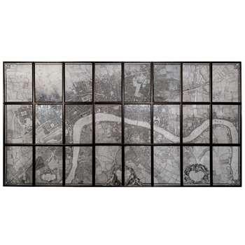 John Rocque's Multi Panel Map Of London (191 x 375cm)