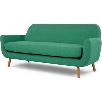 Jonah 3 Seater Sofa, Spearmint Green (84 x 197cm)