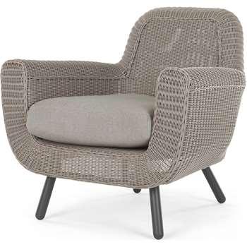 Jonah Garden Armchair, Light Grey (H81 x W83 x D88cm)