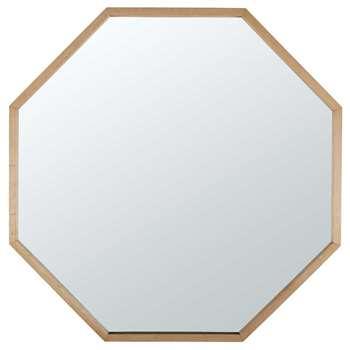 JONAS light oak mirror (100 x 100cm)