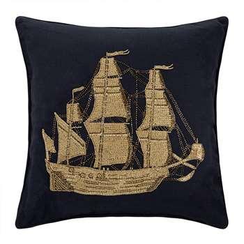 Jonathan Adler - Aquatica Ship Cushion (50.8 x 50.8cm)