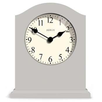 Jones Banbury Mantel Clock, Grey (H17.3 x W14.4 x D5cm)