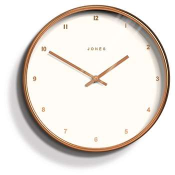 Jones - Copper Studio Clock (30 x 30cm)