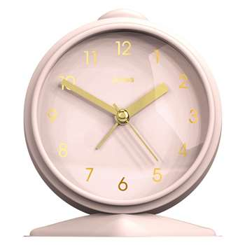 Jones Goodnight Alarm Clock, Blush Pink (H12 x W8.8 x D4cm)