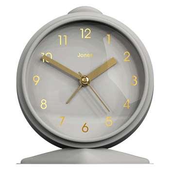Jones Goodnight Alarm Clock, Cloud Grey (H12 x W8.8 x D4cm)