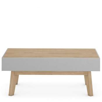 Jones Grey Storage Coffee Table, Grey (H42 x W105 x D60cm)