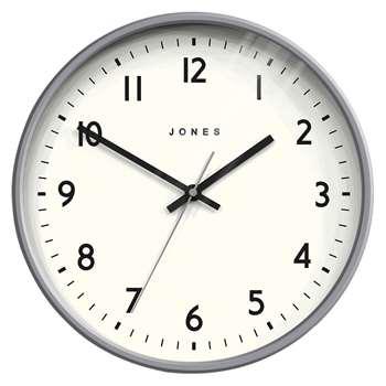 Jones Jam Wall Clock, Grey (H30 x W30 x D4cm)