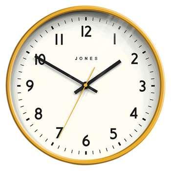 Jones Jam Wall Clock, Mustard (H25 x W25 x D6cm)