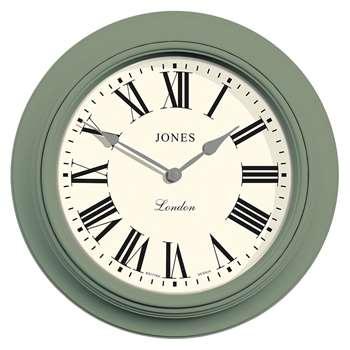Jones Supper Club Wall Clock, Green (H40.5 x W40.5 x D5.5cm)