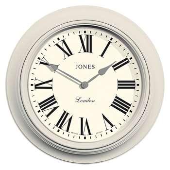 Jones Supper Club Wall Clock, Grey (H40.5 x W40.5 x D5.5cm)