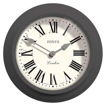 Jones The Film Wall Clock, Grey (H30 x W30 x D7cm)