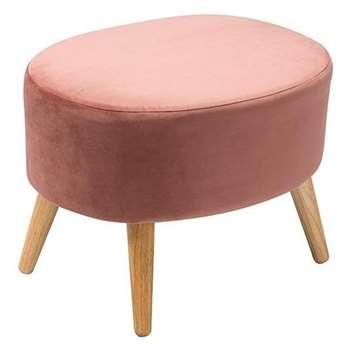 Joni Footstool Pink (H44 x W41 x D54cm)
