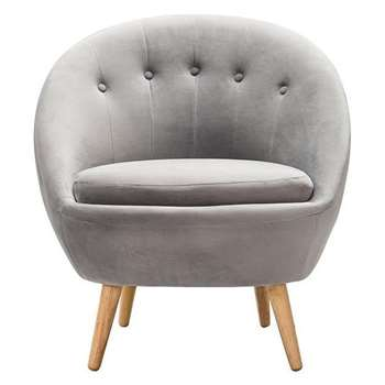 Joni Occasional Chair Grey (H81 x W76 x D75cm)