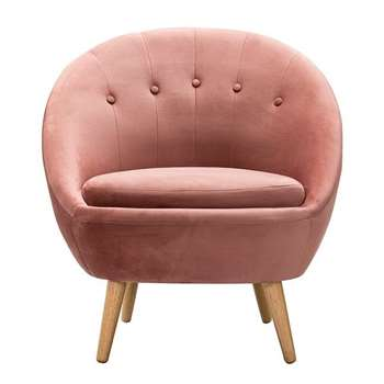 Joni Occasional Chair Pink (H81 x W76 x D75cm)