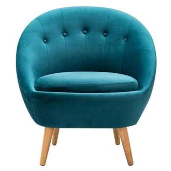 Joni Occasional Chair Teal (H81 x W76 x D75cm)