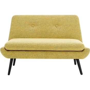 Jonny 2 Seater Sofa, Revival Yellow (78 x 120cm)