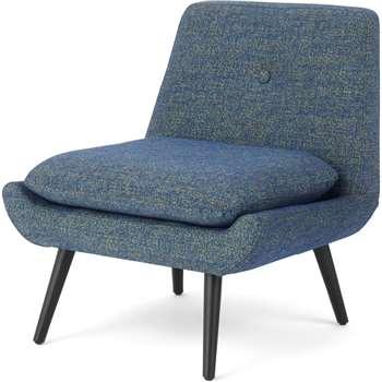 Jonny Accent Armchair, Revival Blue (H78 x W74 x D69cm)