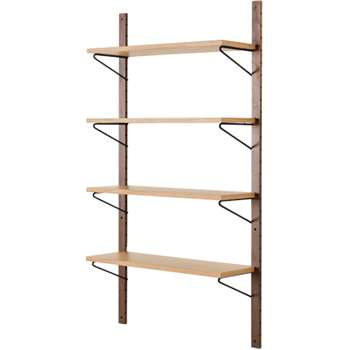 Jory Modular Shelves, Walnut and Oak (180 x 95cm)