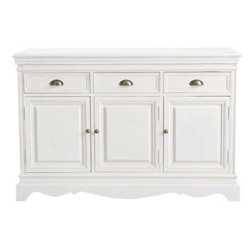 JOSÉPHINE Paulownia Sideboard in White (H131 x W87 x D43cm)