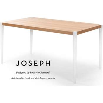 Joseph Dining Table, Oak and White (74 x 162cm)