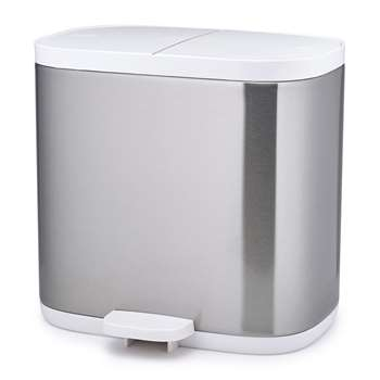 Joseph Joseph - Split Dual Compartment Waste Bin (H27 x W28.5 x D18cm)