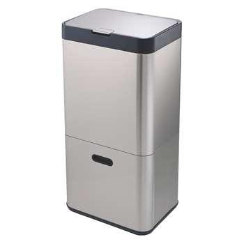 Joseph Joseph Stainless Steel recyling kitchen bin 60l