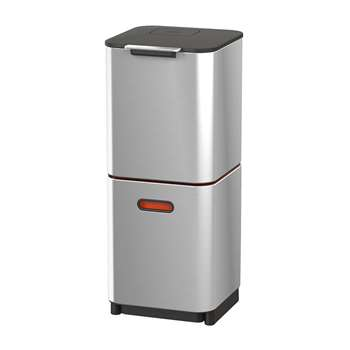 Joseph Joseph - Totem Compact - 40 Litres - Stainless Steel (H76 x W30 x D36.6cm)