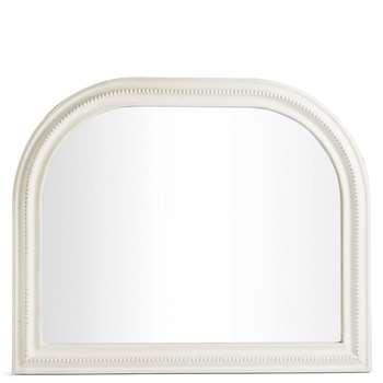 Josephine Arch Mirror, White (H76 x W61 x D3cm)