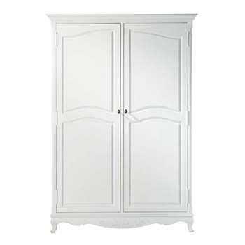 JOSÉPHINE White Paulownia Wardrobe (H190 x W130 x D55cm)