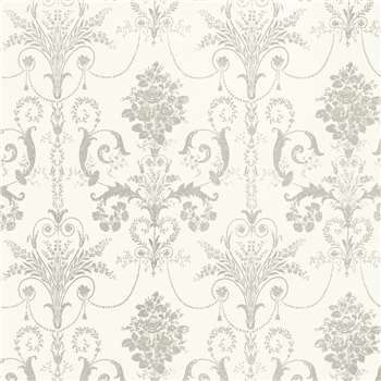 Josette Dove Grey/White Wallpaper
