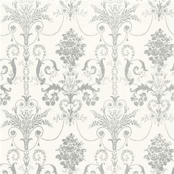 Josette Silver Glitter Wallpaper