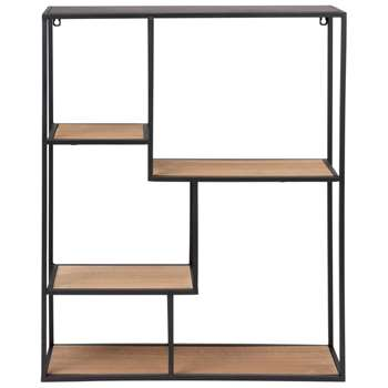 JOSHUA Black Metal Shelving Unit (H73 x W60 x D15cm)