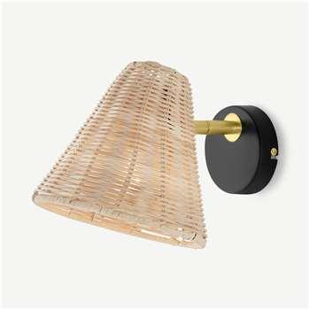 Joslin Wall Lamp, Natural (H17 x W19 x D19cm)