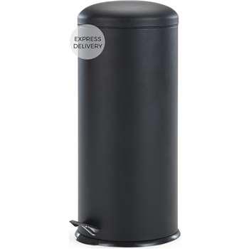 Joss 30L Domed Bin, Black (H68 x W30 x D30cm)