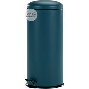 Joss 30L Domed Bin, Blue (H68 x W30 x D30cm)