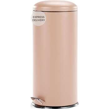 Joss 30L Domed Bin, Pink (H68 x W30 x D30cm)