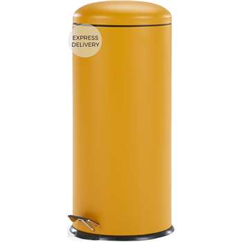 Joss 30L Domed Bin, Yellow (H68 x W30 x D30cm)