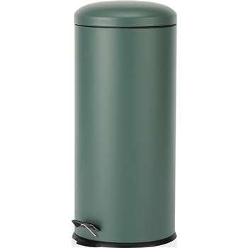 Joss 30L Domed Pedal Bin, Green (H68 x W30 x D30cm)