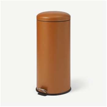 Joss Domed Pedal Bin, 30L, Rust (H68 x W30 x D30cm)