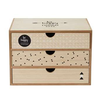 JOY Printed 3 Drawer Box (33 x 23 x 24cm)