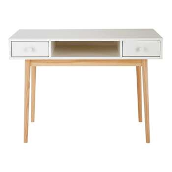 JOY White 2-Drawer Desk (78 x 110cm)