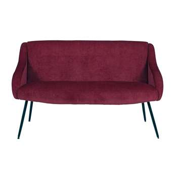 JOYCE Burgundy 2-seater fabric bench (76 x 138cm)