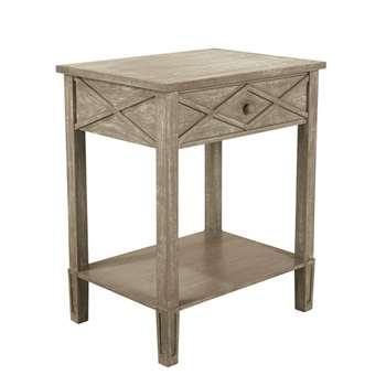 Jubilee Bedside Table - Mango Wood (65 x 53cm)