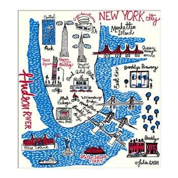 Julia Gash - New York Unframed Print with Mount, 30 x 40cm