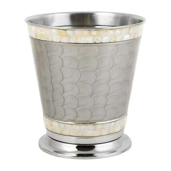 Julia Knight - Classic Waste Basket - Platinum (Height 27.8cm)