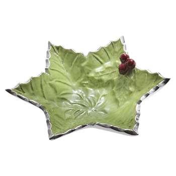 Julia Knight - Holly Sprig Starflake Bowl - Mojito - Small (15.2 x 15.2cm)