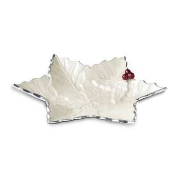 Julia Knight - Holly Sprig Starflake Bowl - White - Large (30.4 x 30.4cm)