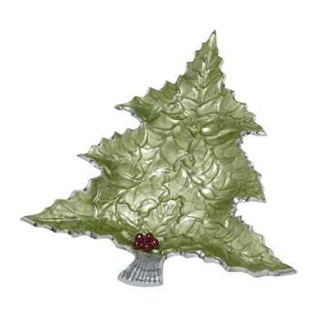 Julia Knight - Holly Sprig Tree Platter - Mojito (Width 40.6cm)