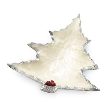 Julia Knight - Petite Holly Sprig Tree Bowl - Snow (Width 15.8cm)