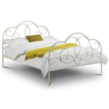 Julian Bowen - Arabella Double Bed in Stone White (H114 x W142 x D197cm)
